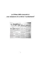 La difesa delle lavoratrici: una redazione di combattentidi Marina CattaneoFondazione Anna Kuliscioff