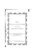 Anna Maria Mozzoni Del voto politico delle donne
