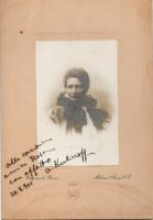 Foto di Anna Kuliscioff con dedica a Rosa Genoni Archivio Raffaella Podreider-Associazione Amici di Rosa Genoni