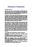 Traduzione Dichiarazione Indipendenza Stati Uniti