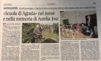 Scuola Agraria nel nome di Aurelia Josz Giornale di Monza